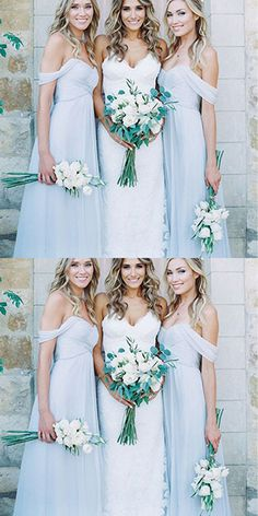 Light Blue Chiffon A Line Bridesmaid Dresses,New Style Long Bridesmaid Dress,bridesmaid dress,bridesmaid dresses,the dress for the bridesmaid,sexy bridesmaids dress