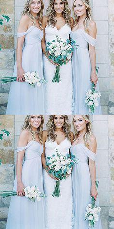 Light Blue Chiffon A Line Bridesmaid Dresses,New Style Long Bridesmaid Dress,bridesmaid dress,bridesmaid dresses,the dress for the bridesmaid,sexy bridesmaids dress