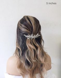 This Pin was discovered by Bridal Star wedding hair accessories. Discover (and save!) your own Pins on Pinterest. Wedding Hair Clips, Wedding Hair Down, Wedding Hair Pieces, Wedding Updo, Star Wedding, Boho Wedding, Dream Wedding, Wedding Things, Wedding Reception