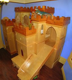 The castle is a symbol of the opulence of a Kingdom, some ideas come from the shape of the Castle. As in Modern Kids Castle Bed by Loren Swanson. Fancy Bedroom, Girls Bedroom, Kid Bedrooms, Girl Rooms, Weird Beds, Crazy Beds, Kids Castle, Castle Bedroom, Kids Bunk Beds