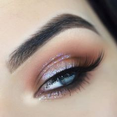 Tutorial of this look is up ✨ @benefitcosmetics precisely my brow pencil in 5 + fool proof in 3 @morphebrushes 39A palette @milkmakeup glitter stick @urbandecaycosmetics glitter liner - pyro @morphebrushes lashes - seductress #eyemakeup #eyeshadow #eyelashes #benefit #benefitclubpink #benefitbrows #morphe #morphegirl #morphebabe #morphe39a #morphelashes #milk #milkmakeup #liveyourlook #urbandecay