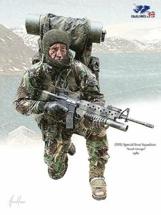 Funnily enough I was born on this day. Start of the Falklands War March Military Photos, Military Men, Military History, Military Uniforms, Les Satellites, Commonwealth, Foto Portrait, Military Drawings, British Armed Forces