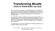 Transforming Moodle - United for Wildlife Implementation Case Study