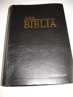 Tagalog Bible / Ang Biblia / Black Leather Bound, Golden Edges