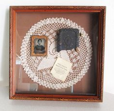 Littefield Parsons Co Daguerreotype Union Cases 1800s B&W Photo Shadow Box