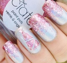 pink ombre glitter. La la love it!