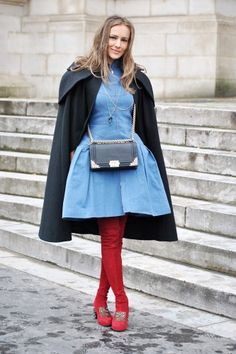 Street style around the haute couture shows in Paris! Photo by Melanie Galea