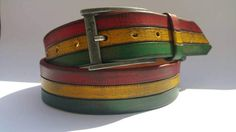 Colorful Leather Leather Belt Unique Leather Custom Belt
