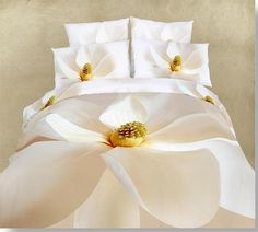 Duvet Cover Set Dolce Mela 4 Pieces Cotton Bedding Set w/ Peaceful FlowerDuvet Covers King / Queen w/ matching sheet and 2pc pillow case. on Etsy, $95.99