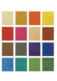 Pallette of colours of wet pour rubber soft play surfacing