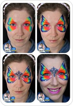 Face Painting Butterfly Face Painting Butterfly Jest Paint LLC Face Painting Tips jestpaint Face P Diy Face Paint, Face Painting Tips, Face Painting Tutorials, Belly Painting, Face Painting Designs, Painting For Kids, Face Paintings, Butterfly Face Paint, Step By Step Painting