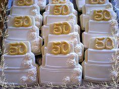 wedding anniversary cookies, the kids would love frosted sugar cookies 50th Anniversary Cookies, 50th Anniversary Decorations, 50th Wedding Anniversary Cakes, Anniversary Ideas, Wedding Aniversary, Anniversary Parties, No Bake Sugar Cookies, Royal Icing Cookies, Fancy Cookies