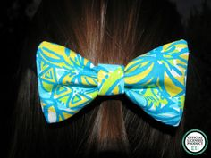 Tri Delta Lilly Pulitzer Fabric Bow LARGE by ASETX on Etsy