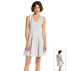 Maia V-Neck Fit And Flare Dress  at www.herbergers.com