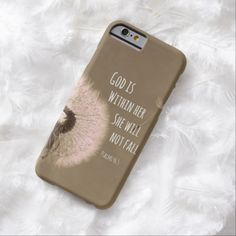 Bible Verse: God is within her, she will not fall iPhone 6 Case #bibleverse #faith