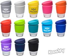 The Kooshty Kup, with its colourful silicone lid and grip band is a fun and practical glass cup for the home or the office. The ergonomically designed splash safe silicone lid ensures no mess and no fuss, and the funky silicone band keeps your drink warmer for longer and provides a firm grip of the glass. 300ML