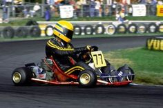 Kalmar, 1980: A young Ayrton Senna pictured during the Karting World Championships in Sweden. © Sutton