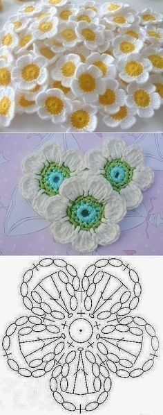 Crochet Mantas Patrones Ganchillo Ideas For 2019 Crochet Motifs, Granny Square Crochet Pattern, Crochet Diagram, Crochet Squares, Crochet Stitches, Crochet Granny, Granny Squares, Crochet Flower Tutorial, Crochet Flower Patterns