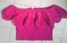 blusa tejida a crochet
