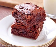 Gluten Free Chocolate Chip Brownies {Culinary Cool Blog}