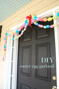 UPDATE: DIY Easter Garland.  Made this for over my dining room mirror, super cute, super easy and cheap!