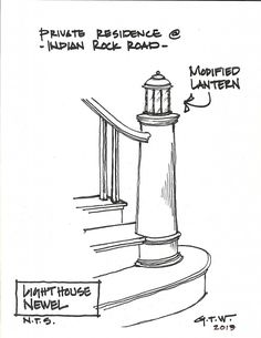 staircase newel, architectural millwork, architectural woodwork, Boston, Massachusetts, New England