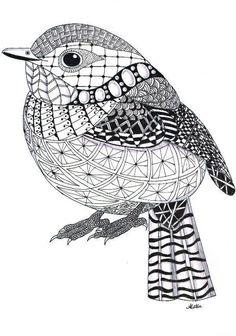 Zentangle - Bird