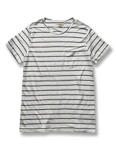 A relaxed navy and white striped tee from Western Assembly premium Portuguese menswear designer, La Paz. Crafted from 100% premium linen.