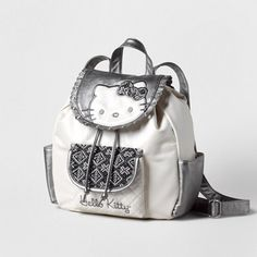 Hello Kitty Tweed Backpack | Claire's    So cute! I love Hello Kitty! Definitely going on my b-day wish list!!!!