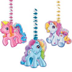 Print and Color, or just plain buy, ponies to hang throughout the room.