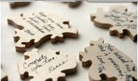 I'm doing this for my graduation party! guests sign a puzzle piece- put it back together, frame it- very original guest book idea