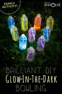 Glow Bowling. Easy and FUN family outdoor activity! www.SeeMomClick.com