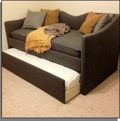 DIY Upholstered daybed with trundle....just needs PINK!!