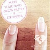 Looking for strong & healthy nails? Read how to make your nails grow stronger an… Looking for strong & healthy nails? Read how to make your nails grow stronger and longer on Women's Best. Grow Nails Faster, Healthy Nails, Nail Care, You Nailed It, Strong, Make It Yourself, Reading, How To Make, Ideas