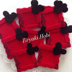 ♥ Tiryaki Hobi ♥: Keçe çerçeve magnet