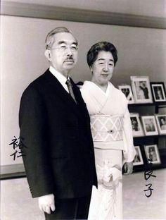 Emperor Showa (Hirohito) and Empress Kojun (Nagako) People Photography, Vintage Photography, Royal Art, Caroline Kennedy, Inspirational Celebrities, Crown Royal, Kaiser, World Leaders, Japanese Culture
