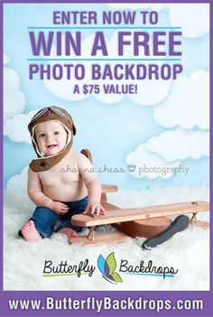 Dandygiveaway.com - enter to win a free backdrop from Butterfly Backdrops.  These drops are adorable and totally worth checking out!