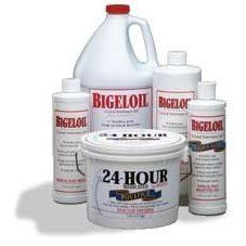 """Bigeloil by Bigeloil. $16.95. The """"Bigeloil"""" brand name is well known in the racing community. Bigeloil is an effective, clean, and invigorating rub that quickly stimulates superficial circulation and reduces soreness resulting from fatigue or strain. Bigeloil, diluted with water, makes a refreshing brace or body wash when applied to tired, overheated animals after strenuous muscular activity. Bigeloil has a pleasant scent and is an inexpensive external analgesic with antise..."""