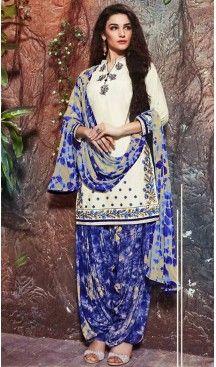 Cotton Off White Color Deaily Wear Patiyala Punjabi Dress   FH485574736 #Heenastyle #Punjabisuit #Salwarsuit, #SalwarKameez, #Dreses, #Patiyala