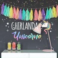 How about a Rainbow Unicorn Tassel garland for the next party, that . - Event planning - How about a Rainbow Unicorn Tassel garland for the next party - Colorful Birthday Party, Birthday Party Decorations Diy, Rainbow Birthday, Unicorn Birthday Parties, Birthday Garland, Unicorn Baby Shower Decorations, Diy Party Banner, Homemade Party Decorations, Rainbow Party Decorations