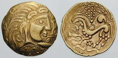 A Celtic gold coin from Gaul (France), c. 1st century BC
