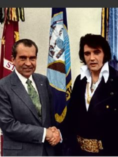 Elvis Presley and President Richard Nixon