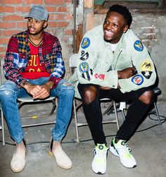 Stuntin' in Style with the Lakers' D'Angelo Russell and Julius Randle Nba Fashion, Fashion Shoot, Streetwear Fashion, Fashion Outfits, Julius Randle, Nba Players, Bigbang, Brooklyn, Athlete