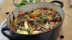 Ukens matblogg: Kylling i form med chorizo