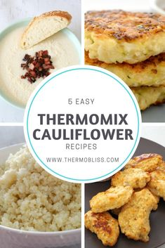 If you are a bit obsessed with Cauliflowers like me, this collection of 5 easy T.- If you are a bit obsessed with Cauliflowers like me, this collection of 5 easy Thermomix Cauliflower Recipes is for you! With soups, fritters and nuggets Thermomix Recipes Healthy, Gourmet Recipes, Mexican Food Recipes, Low Carb Recipes, Vegetarian Recipes, Cooking Recipes, Donut Recipes, Dessert Recipes, Easy Recipes