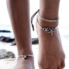High Quality Vintage Bracelet Foot Jewelry Retro Anklet For Women Ankle Leg Chain Charm Starfish Beads Bracelet Beach Jewelry Anklet Jewelry, Boho Jewelry, Women Jewelry, Fashion Jewelry, Feet Jewelry, Gypsy Fashion, Buddha Jewelry, Chain Jewelry, Summer Jewelry