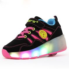 Children sneakers Shoes Led Light Kids Sneakers With Wheels Ultra-Light Skate Roller Shoes Boys Girls Shoes tenis infantil