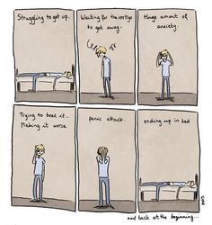 This Artist Absolutely Nailed It With His Comics About Anxiety