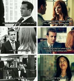 Donna and Harvey. Suits tumblr.