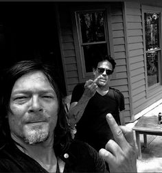 Happy 4th of July from these two! JDM & Norman Reedus